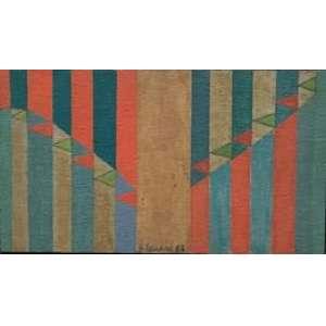 Judith Lauand. Oléo sobre madeira. Registro do acervo 447. (1986) - Medida: 26cm x 14cm.<br><br>Judith Lauand. Oléo on wood. Record of the acquis 447. (1986) - Measure: 26cm x 14cm.