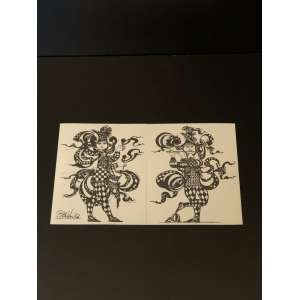 Lindo e raro cartão Bjorn England. Medida de 25cm x 15cm. <br /><br /><br><br>Beautiful and rare. Cards Bjorn England. Measure of 25cm x 15cm.