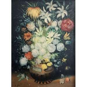 Óleo sobre tela assinado, Espanha. Impressionism still life floral oil painting.<br />Medida de 60cm x 80cm.<br /><br />Oil on canvas, Spain. Impressionism still life floral oil painting.<br />Measure of 60cm x 80cm.