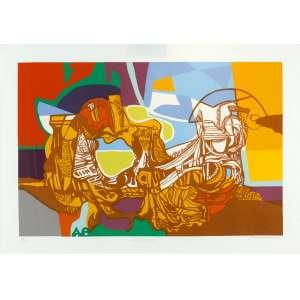 Roberto Burle Marx - Canto Burlesco - 70 x 100 cm - Serigrafia 35/100 - 1993 - Assinado no c.i.d