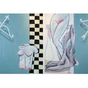 Beatriz Milhazes - Sem Tìtulo (díptico) - 134 x 194 cm - Óleo sobre tela - 1983 - moldura baguete reta branca.