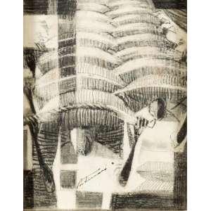 Cândido Portinari - Transporte de café - Desenho a grafite sobre papel - 12 x 9,5 cm - 1960 - Assinado no centro da metade inferior Portinari Reproduzido no catálogo Raisonné - vol. lV ,pg: 481 [FCO 393]; Reproduzido no livro Portinari - A Construção de uma Obra, Ed Dom Quixote, pg. 204.