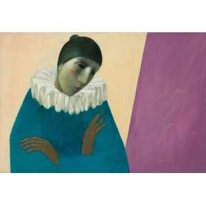 Quaglia - A Solidão do Pierrot - 50 x 74 cm - Óleo sobre tela - 1985 - Assinado e datado no c.i.d e no verso.