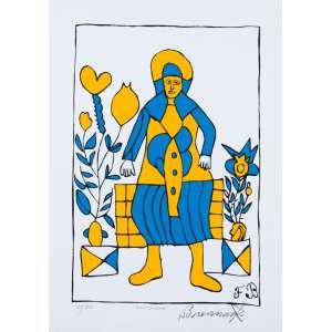 Francisco Brennand - Camponesa- 70 x 50 cm - Fine Art 25/50 - Assinado no c.i.d,Produção Lithos- Medida com moldura: 79 x 61 cm