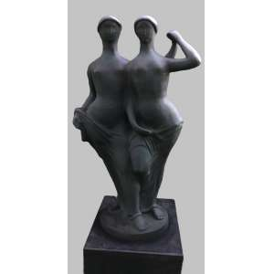 Ceschiatti - As Irmãs - 106 x 57 x 30 cm (base 20 x 47 x 50 cm) - 1966 - Escultura em bronze - assinada na base