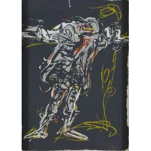 Iberê Camargo - Suíte Manequins IV - 70 x 50 cm - Serigrafia 96/100 - 1986 - Assinado e datado - Reproduzido no Catálogo Raisonné - Vol. I - pg. 374