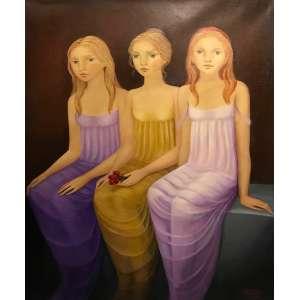 Bibiana Calderon -Sem Titulo - 100 x 81 cm - Óleo sobre tela - 2011 - Assinado no canto inferior direito - Medida com moldura : 102 x 83 cm