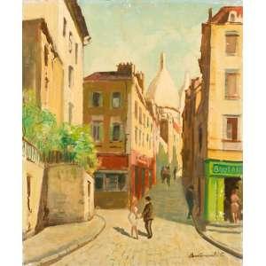 Bustamante Sá - Paris - Montmartre - Óleo sobre tela - 46 x 38 cm - Assinado no canto inferior direito, entitulado no verso
