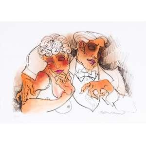 Juarez Machado - Sem Título - Litografia e pastel sobre papel 12/30 - 50 x 70 cm - 2015 - Assinado no canto inferior direito