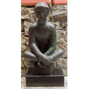 Bruno Giorgi - ìndio - Escultura em Bronze - 56 x 29 x 18 cm -Assinado B. Giorgi na obra