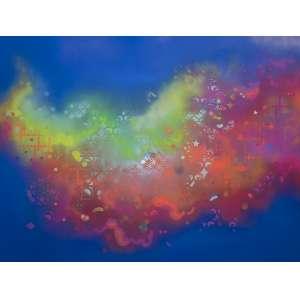 Zezão - Nuvens Coloridas - 150 x 200 cm - Tinta Spray sobre painel de alumínio - 2011 - Assinado no verso