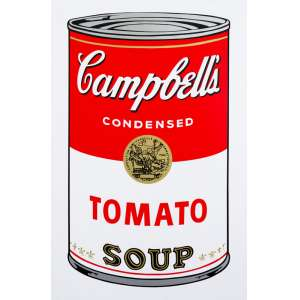 Andy Warhol - Tomato Soup - Serigrafia - 88 x 58 cm - Com carimbo no verso inscrito Published by Sunday B. Morning.