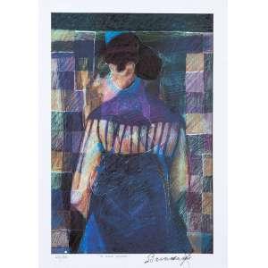 Francisco Brennand - O Xale Negro - 70 x 50 cm - Fine Art 29/50 - Assinado a lápis - Produção LITHOS.