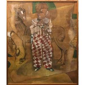 Portinari - Retrato de João Candido com Cavalo -138 x 119 cm - Impressão sobre tecido - Rara obra