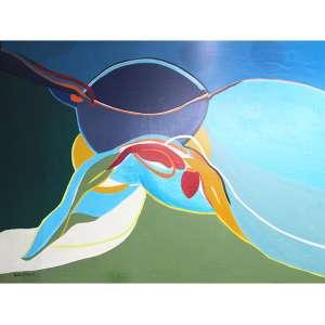 MARIA POLO, Abstrato, OST, ACIE, 107 x 144cm. Datado 76 ( com craquelet )