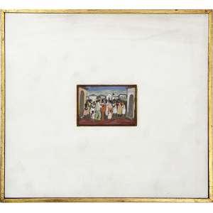 F.PENNACCHI, Cena com Figuras - miniatura, OSE, ACID, 05 x 09cm. Datado 1977