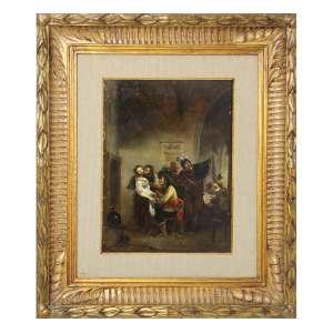 ROEBNF, Cena de Taberna, OSM, ACID, 30 x 22cm. Europa, séc. XVIII/XIX