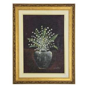 L. VALTAT, Vaso de Flores, OST, ACID, 35 x 25cm.