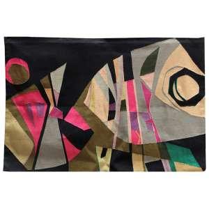 JACQUES DOUCHEZ, Festa Veneziana, Tapeçaria feita à mão, ACID, 114 x 165cm. (com etiqueta do atelier Douchez-Nicola no verso, também assinado pelo artista)