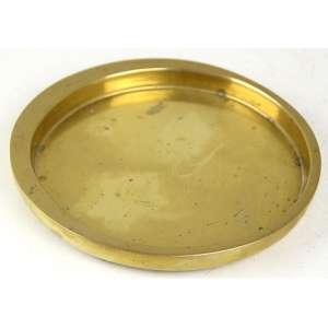 BECHERONI, Cinzeiro de bronze com forma lisa circular, assinado. Diam. 17cm