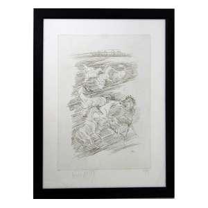 LIVIO ABRAMO, Cavalos, Gravura, Tiragem 58/75, ACIE, 40 x 30cm. Datado 1983