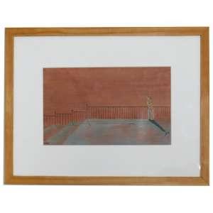 ENZO, Composição com Dama, Guache, ACIE, 14 x 22 cm.