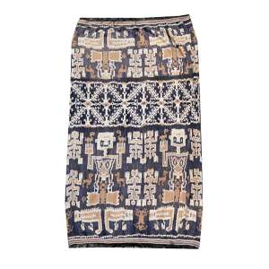 Panneaux de tecido fino ornamentado com motivos étnicos, 183 x 94cm = 1,7m2