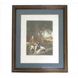 Gravura intitulada The Weary Sportsman de W. Bend e G. Morland, publicada em Londres em 1803. 64 x 51cm.( com manchas do tempo )