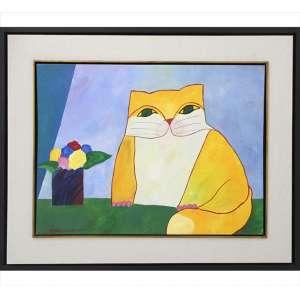 ALDEMIR MARTINS, Gato, AST, ACIE, 60 x 80cm (pintura). Datado 2012. ( acompanha certificado de PEDRO MARTINS )