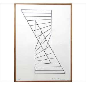SERVULO ESMERALDO, Composição Geométrica, Serigrafia, Tiragem 10/60, ACID, 70 x 50cm.