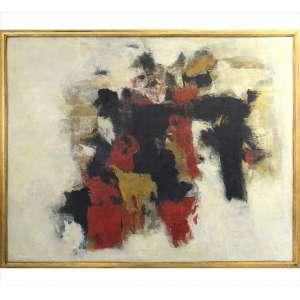 SHEILA BRANNINGAN, Abstrato, OST/E, ACIE, 120 x 150cm. Datado 1961