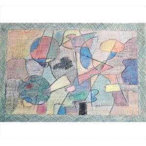 PAULO CALAZANS, Sem Títulto, Acrílica e lápis de cor sobre papel, ACID, 45 x 65cm. Datado 1998 (sem moldura)