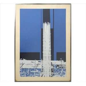 GERTZ SARUÊ, Composição Urbana, Serigrafia, Tiragem 20/25, ACID, 87 x 60cm. Datado 1975 (com pequenas manchas na borda do paspaur)