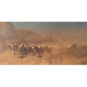 """DARIO MECATTI – """"Cena Árabe"""" - OST colado sobre madeira a.c.i.d – 60 x 120 cm<br />"""