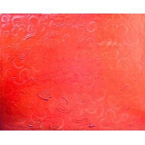 JOSÉ ZÁRAGOZA – Composição em vermelho - Pintura sobre placa de madeira - 130x150 cm - Assinado