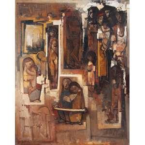 """DARIO MECATTI - """"Composição Figurativa"""" - OST a.c.i.e 1973 – 150 x 121 cm<br />"""