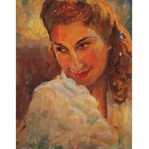 "DARIO MECATTI - ""Retrato Maria da Paz"" - OSM n.a. S/D – 24 x 18 cm<br />"