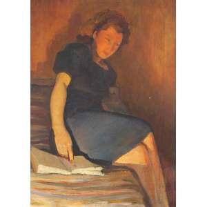 """DARIO MECATTI - """"Retrato Maria da Paz"""" - OST n.a. S/D – 70 x 50 cm<br />"""