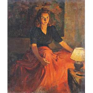 """DARIO MECATTI - """"Retrato Maria da Paz"""" - OST n.a. S/D – 50 x 41,5 cm<br />"""