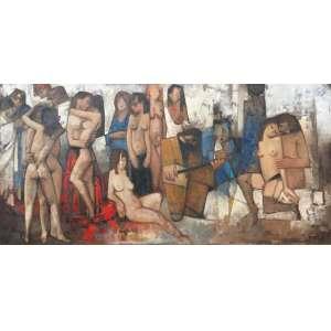 """DARIO MECATTI - """"Composição Figurativa"""" - OST a.c.i.d – 100 x 200 cm<br />"""
