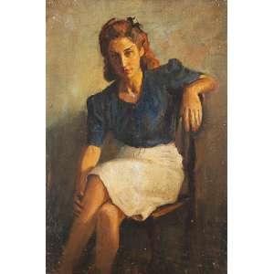 """DARIO MECATTI - """"Retrato Maria da Paz"""" - OST n.a. S/D – 50 x 33 cm<br />"""