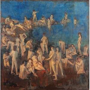 """DARIO MECATTI - """"Composição Figurativa"""" - OST a.c.i.d S/D – 100 x 100 cm<br />"""