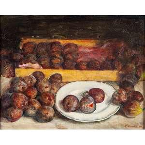 PEDRO ANTONIO - artista espanhol - (NATUREZA MORTA) - OLEO SOBRE TELA - medida 36x45cm - assinatura canto inferior direito