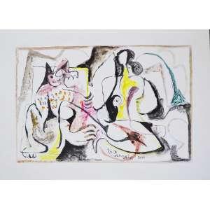 MARTINS DE PORANGABA, Composição - Aquarela sobre tela - 49x49 cm - ACID 2006