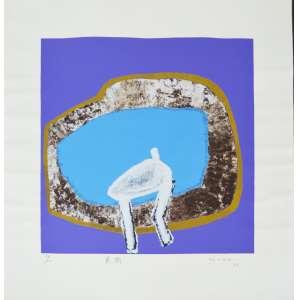 Manabu Mabe (1924-1997) - Sem título - Gravura 55/100 - 51 x 51 cm - 1992 - Assinado e datado embaixo à direita
