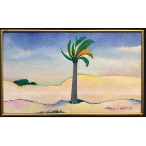 ALDEMIR MARTINS, Paisagem - Acrílica sobre tela - 27x46cm - ACID 1996 (Reproduzido no Catalogo da Galeria André)