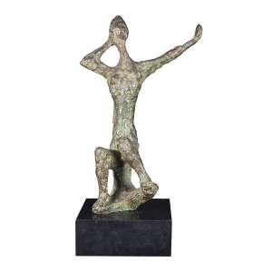 Bruno Giorgi - Mulher com espelho - Escultura em bronze - 60 x 20 x 25 cm