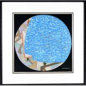 """WAKABAYASHI, Kazuo - """"Composição"""" - óleo sobre tela - 50 x 50 cm - a.c.i.d. 1986"""