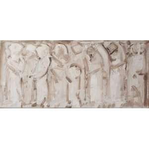 DARIO MECATTI - O.S.T. - Figuras - 40x95 cm - Acompanha certificado de autenticidade e procedência da família.