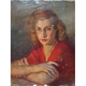 DARIO MECATTI - Retrato de Maria da Paz - O.S.T. - 39x31 cm. Sem chassis. Acompanha certificado de autenticidade e procedência da família.